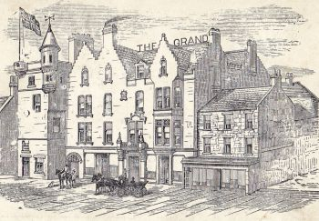 Old drawing of the Grand Hotel Lerwick