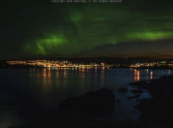 Aurora over Lerwick, Shetland Islands