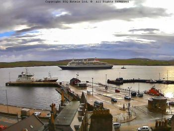 Cruise Liner mv Black Watch entering Lerwick Harbour