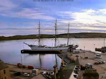 Statstraad Lehmkuhl at the Victoria Pier Lerwick