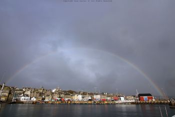 Rainbow over Lerwick