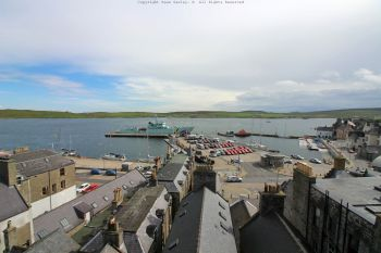 Lerwick Harbour from the roof of the Grand Hotel