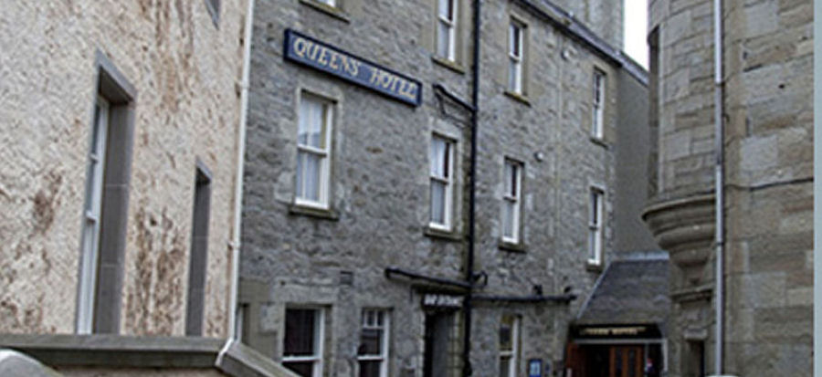 Frontage of the Queens Hotel Lerwick