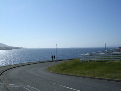 The road to  Lerwick Cemetery