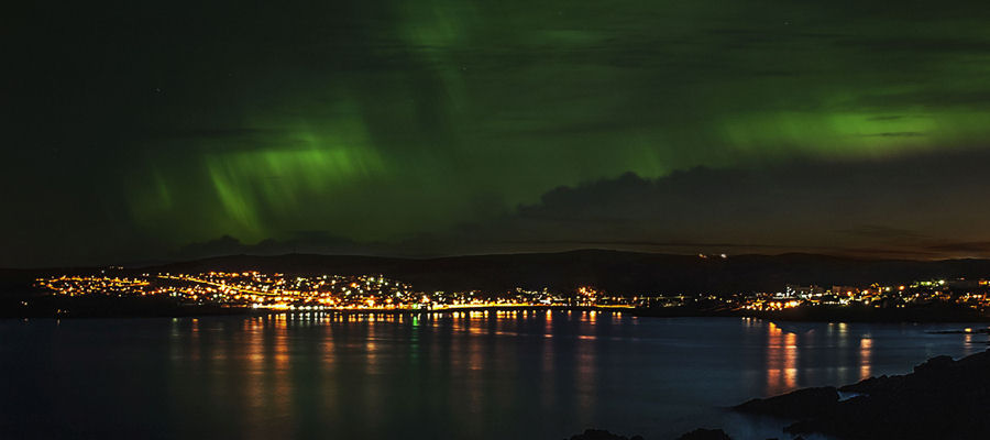 Aurora over Lerwick