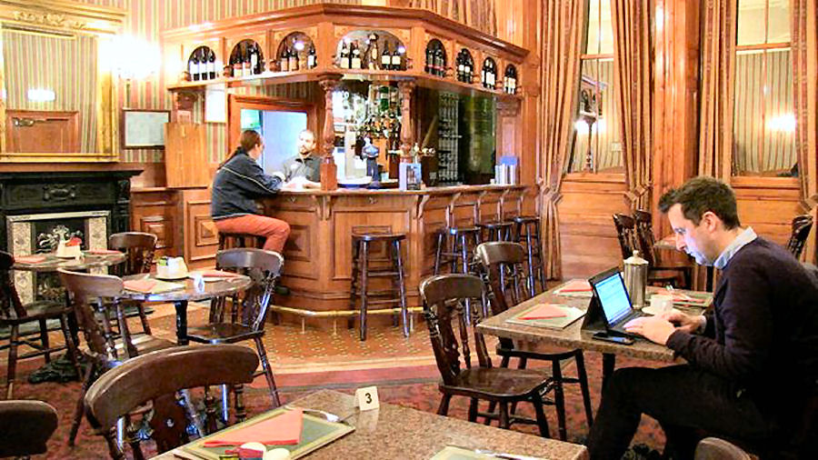 The Lounge Cafe Bar at the Grand Hotel Lerwick