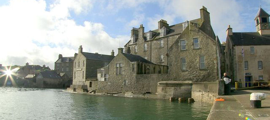 The Queens Hotel and Lodberries, Lerwick, Shetland Islands