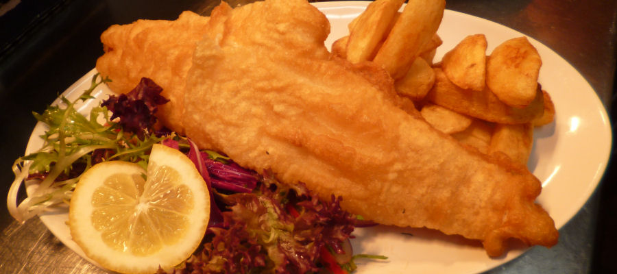 Battered Haddock at the Grand Hotel Dining Room