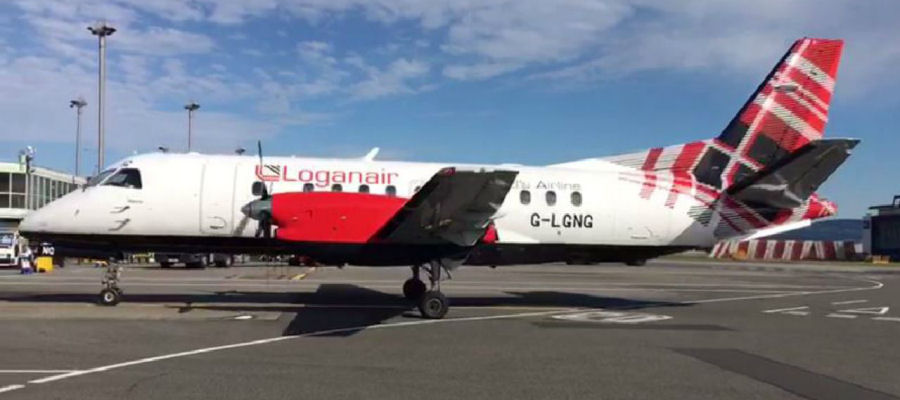 Loganair Saab 340B at Sumburgh Airport