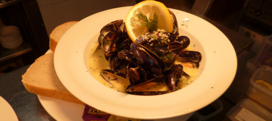 Mussels at the Grand Hotel, Lerwick