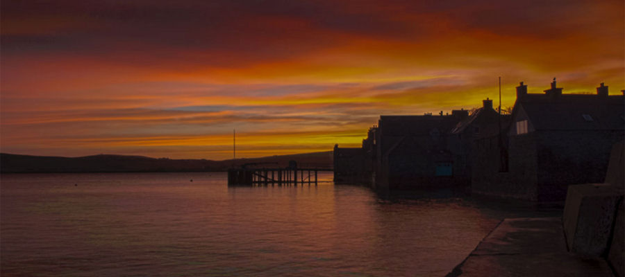 Burning Sunrise over Lerwick